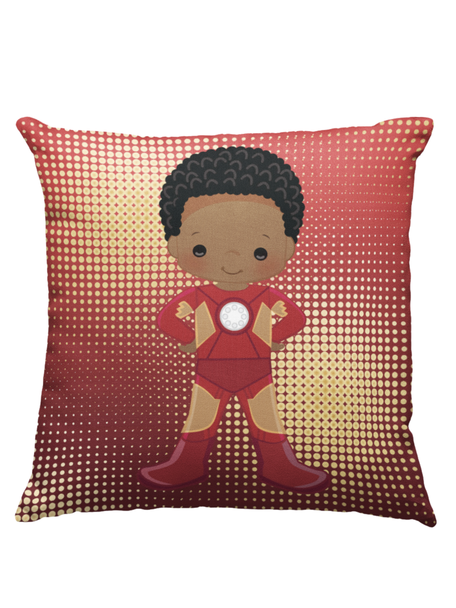 Learning Pillow ~ Iron Man Inspired 18 x 18 Throw Pillow