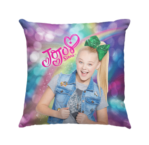 Learning Pillows ~ Jo Jo Inspired Purple Rainbow 18x18 Throw Pillow