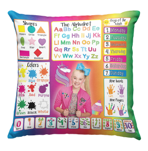 Learning Pillow ~ JoJo Rainbow 18 x 18 Throw Pillow