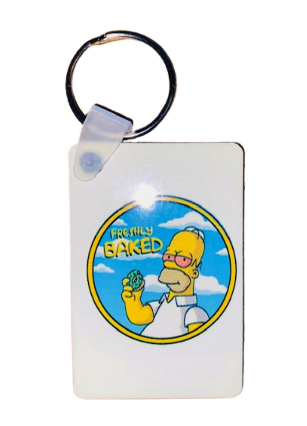 Keychain ~ Freshly Baked Homer 420 Inspired