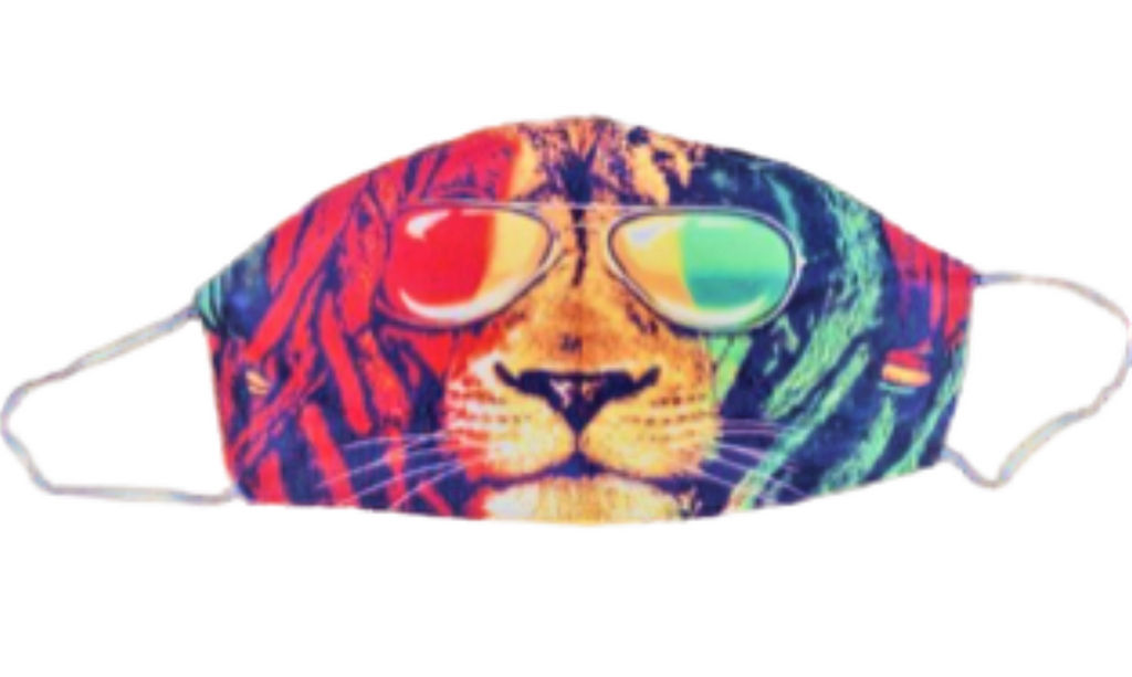 Face Accessories ~ Rasta Lion W/Shades Face Mask