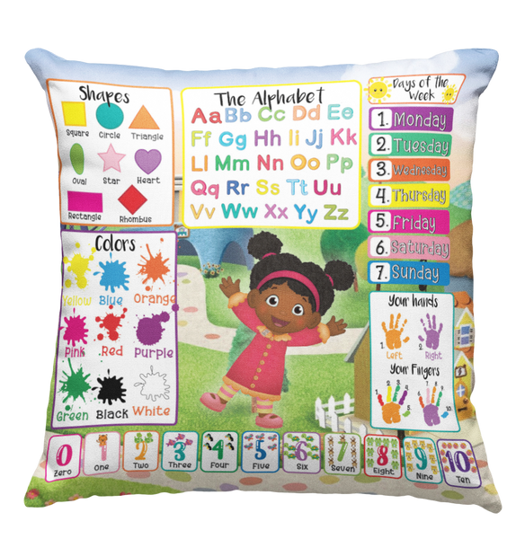 Learning Pillow ~ Ms. Elaina Inspired 18 x 18 Throw Pillow