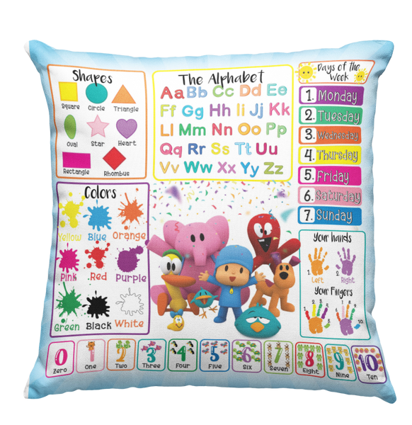 Learning Pillow ~ PJ Mask Inspired 18 x 18 Throw Pillow