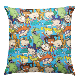Learning Pillow ~ Rugrats Inspired Multi Color 18 x 18 Throw Pillow
