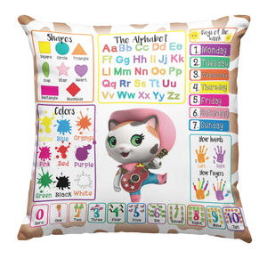 Learning Pillow ~ Sheriff Callie 2 18 x 18 Throw Pillow