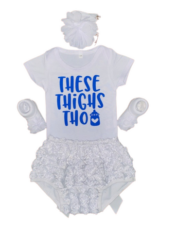 V Day Gift Ideas ~ These Thighs Though Baby Tee Gift Set