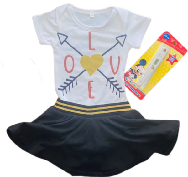 V - Day Gift Ideas ~ Arrow Love Onesie Gift Set