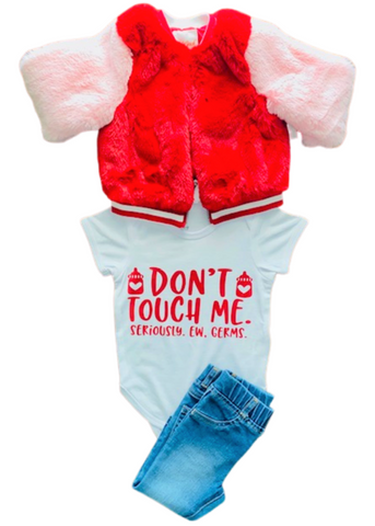 V Day Gift Ideas ~ Ew Don't Touch Me Germs, Toddler Outfit