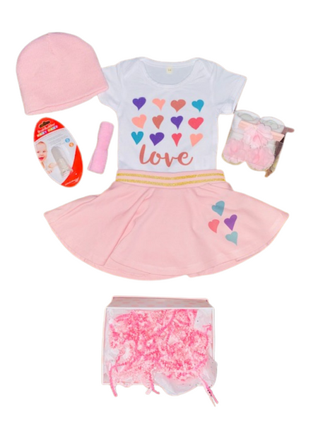 V - Day Gift Ideas ~ Pink Love Onesie Gift Set