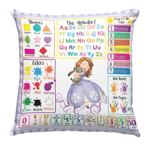 Learning Pillow ~ Sofia The First Castle Inspired 18 x 18 Throw PIllow