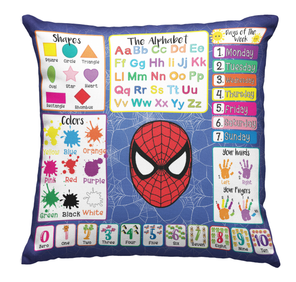 Learning Pillow ~ Spiderman Melanin Inspired (2) 18 x 18 Throw Pillow
