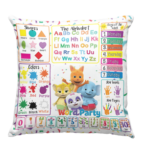 Learning Pillow ~ Word Party Inspired 18 x 18 Throw Pillow