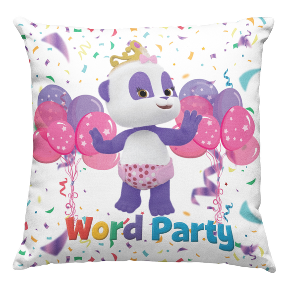 Learning Pillow ~ Word Party LuLu Inspired 18 x 18 Throw Pillow