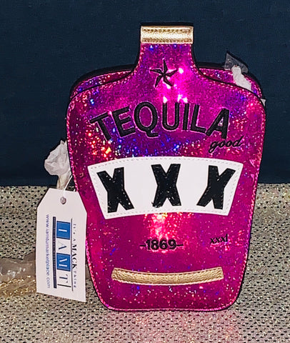 "Accessorize Me ~ ""Sparkle Shot"" Glitter Tequila Bottle Clutch"