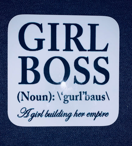 Hardboard Coaster ~ Girl Boss (Noun)