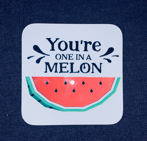 Hardboard Coaster ~ One In A Melon