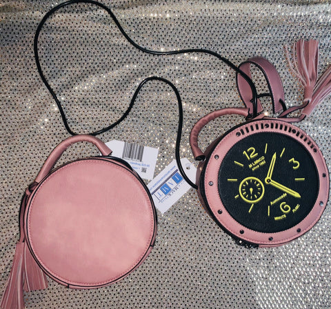 "Accessorize Me - ""On My Own Time"" ~ Pink Cross Body Bag"