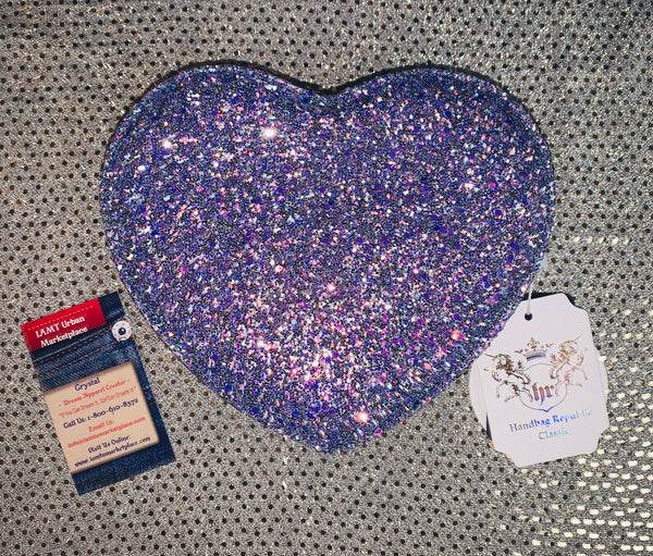 "Accessorize Me - ""Glitter Heart"" Crossbody Fanny Bag"