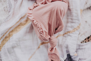 Organic Cotton Dusty Blush Knot Gown