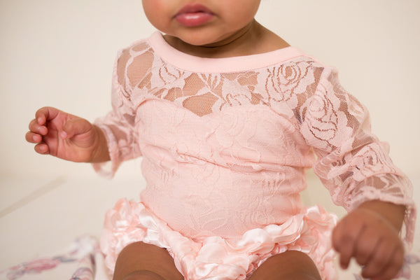 Pink Lace Sweetheart Leotard