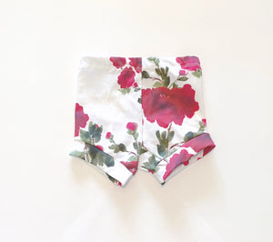 Red Flower Shorts