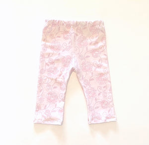Soft Pink Rose Leggings