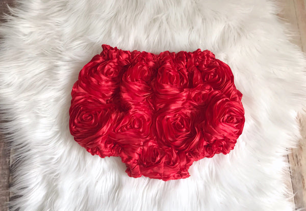 Red Floral Bloomers