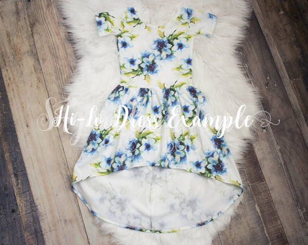 Nordic Flower Leotard/Peplum/or Dress