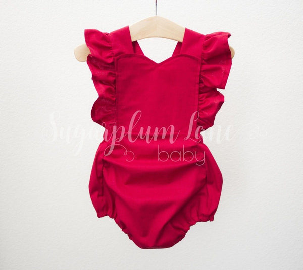 Red Dress Or Romper © Rompers And Leotards