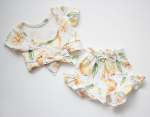 Lemon Bow Top