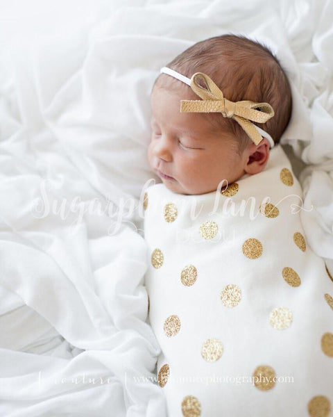 The Jaylin Swaddling Blanket, Knot Hat, OR Knotted Headband