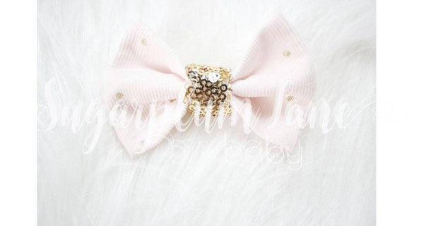 Pink Courduroy Bow