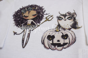 Glitter Halloween Girls Shirt/onesie Shirts