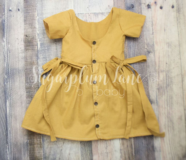 Mustard Button Dress ©