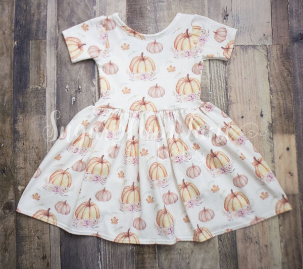 Pumpkin Twirl Dress © Rompers And Leotards