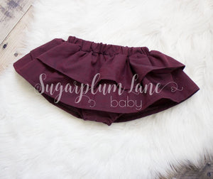 Merlot Ruffled Skirt Bloomers