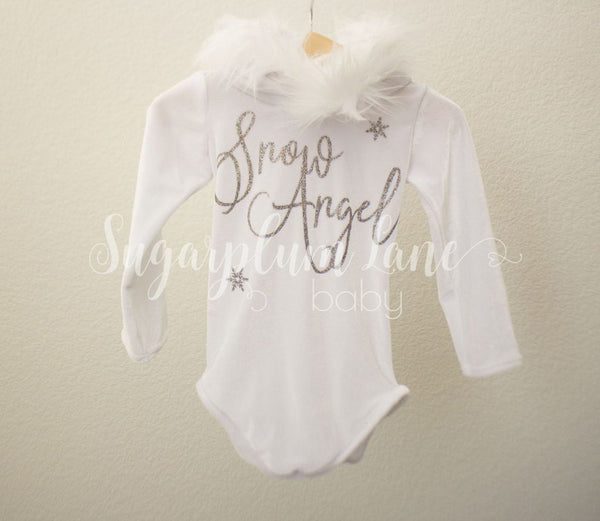 Snow Angel Hood Velvet Leotard © Rompers And Leotards