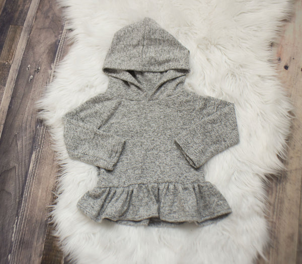 Grey Heather Hooded Peplum ©