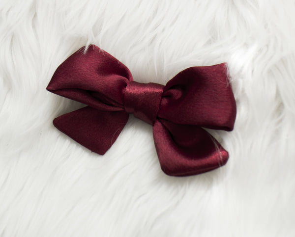 Ruby Satin Holiday Bow