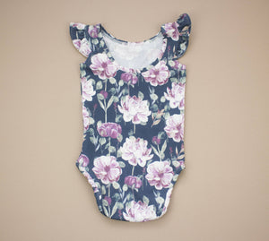 Blush and Lavender Flower Leotard ©