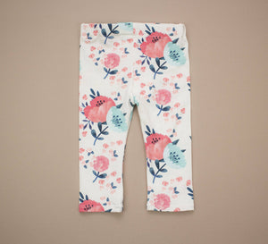 Orange and Teal Floral Leggings