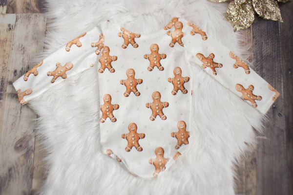 Gingerbread Man Velvet Leotard