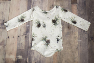 Pine Tree Velvet Leotard