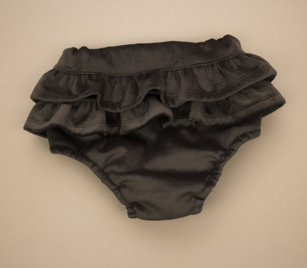 Brown Velvet Ruffle Bloomers