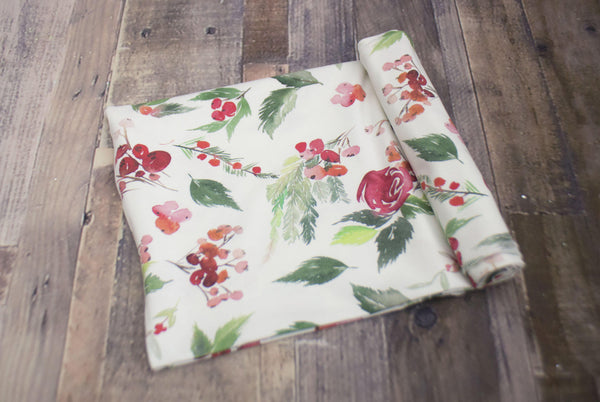 Rose Holly Knit Swaddle Blanket©