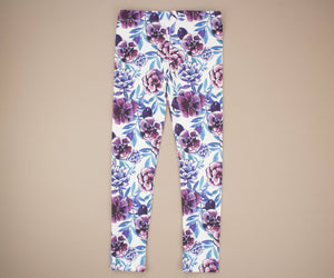 Blue and Purple Flower Leggings
