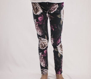 Esme Dark Floral Leggings