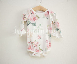 Pink Rose Onesie Leotards