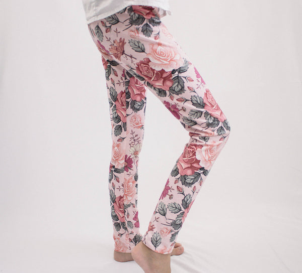 Ruby Flower Leggings
