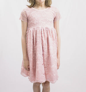 Blush Lace Twirl Dress